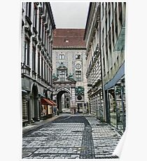 Munich Back Streets Poster