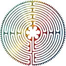Sacred Geometry Symbol - Chartres Labyrinth 3 by EDDArt