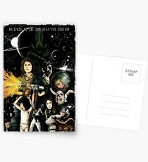 In Space No One Can Hear You Scream Postcards