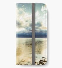 Beach panorama of a sunrise over the sea iPhone Wallet/Case/Skin