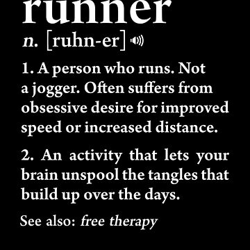 Runner Definition Funning Running Athlete Workout Gift by JapaneseInkArt