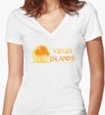 Virgin Islands Paradise Women's Fitted V-Neck T-Shirt