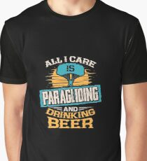 Paragliding and Beer Graphic T-Shirt