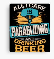 Paragliding and Beer Canvas Print