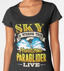 Paragliding Skydiving Parachute Women's Premium T-Shirt