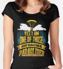 Paragliding Skydiving Parachute Women's Fitted Scoop T-Shirt