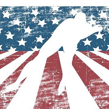 Speed skating Skate Ice American Flag Vintage Gift by Rueb
