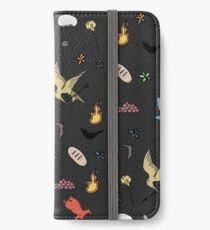 Hunger Games quality pattern  - black version iPhone Wallet/Case/Skin