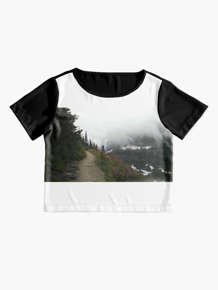 Alternate view of Glacier National Park. Misty Mountains Chiffon Top