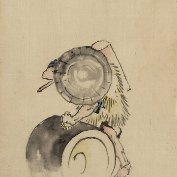 A Man Wearing A Hat - Hokusai Katsushika - 1850 by CrankyOldDude