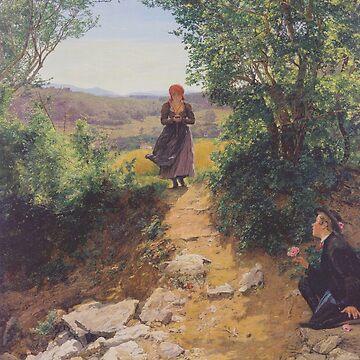 The expected woman( Die Erwartete)-Ferdinand Georg Waldmüller by LexBauer