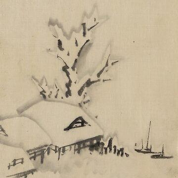 Building And Large Tree - Hokusai Katsushika - 1850 by CrankyOldDude