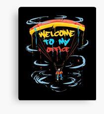 Paragliding Skydiving Parachute Canvas Print