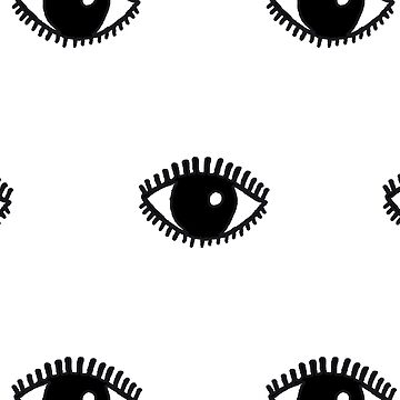 Eyes Hand Drawn Illustration Pattern by YLGraphics