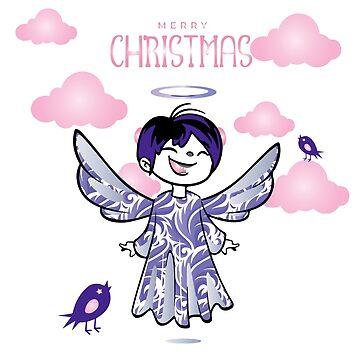 Violetter Weihnachtsengel von LenaLime
