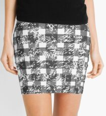 Snowy Buffalo Plaid Mini Skirt