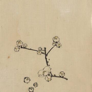 A Tree Branch - Hokusai Katsushika - 1850 by CrankyOldDude