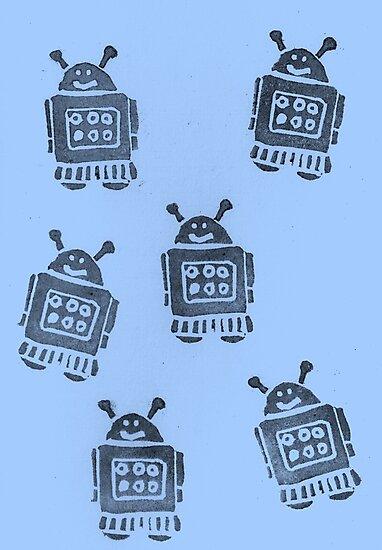 Blue Robots by KeLu