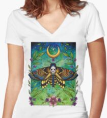 Deaths-head Moth - Lorna Laine Women's Fitted V-Neck T-Shirt