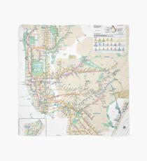 #NY #subway #map #famousplace #BrooklynBridge #CityHall #ChambersStreet #NewYorkCity #USA #map #cartography #topography #travel #country #guidance #vector #graph#colorimage #newyorkstate #NYSubwayMap Scarf