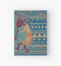 Native American Kokopelli - Ethno Border Pattern 3 Hardcover Journal