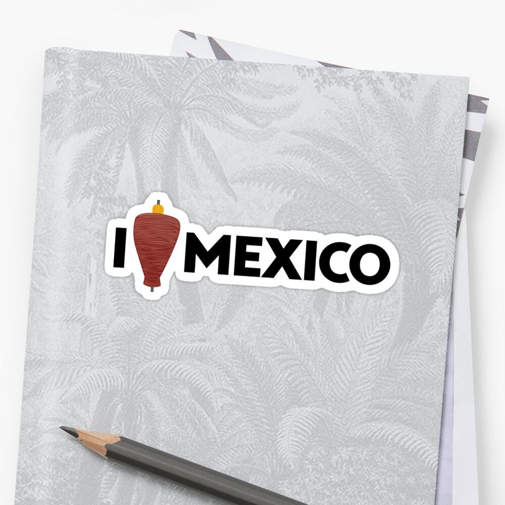 I Love Mexico - Pastor Sticker