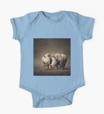 Two Rhinoceros with birds Kids Clothes