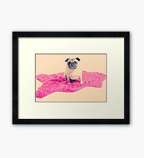 Vintage Pug Framed Print