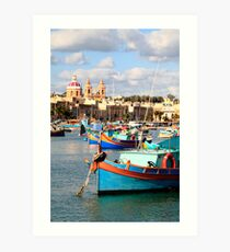 Fishing boats of Malta Art Print