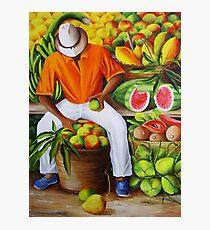 Manuel the Caribbean Fruit Vendor Photographic Print
