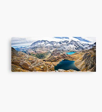 Laghi Agnel e Serru` ~ Nivolet ~ Panorama Canvas Print