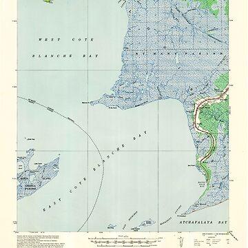 USGS TOPO Map Louisiana LA Bayou Sale 334269 1937 62500 by wetdryvac