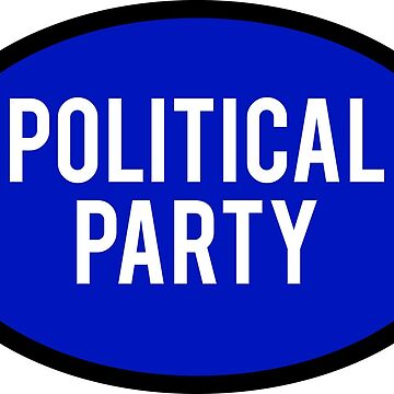 Generic Political Party Sticker - Blue by BrobocopPrime