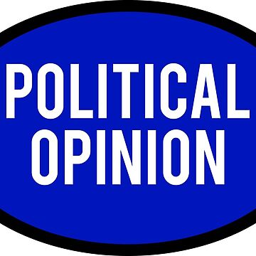 Generic Political Opinion Sticker - Blue by BrobocopPrime