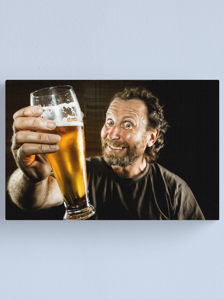 Alternate view of Happiness is in the eye of the Beer Holder ;-) Canvas Print