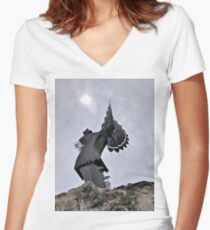 Keeper of the Plains Women's Fitted V-Neck T-Shirt