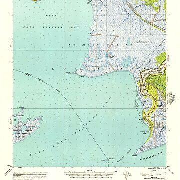 USGS TOPO Map Louisiana LA Bayou Sale 334270 1957 62500 by wetdryvac
