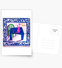 silkscreen tablescape Postcards