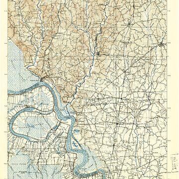 USGS TOPO Map Louisiana LA Bayou Sara 335201 1906 125000 by wetdryvac