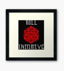 Dungeons & Dragons Roll Initiative gift idea Framed Print