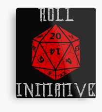 Dungeons & Dragons Roll Initiative gift idea Metal Print