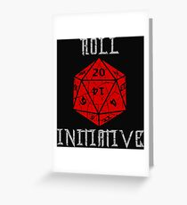 Dungeons & Dragons Roll Initiative gift idea Greeting Card
