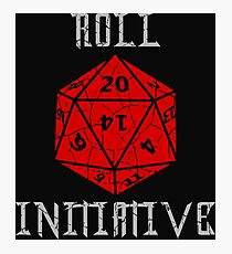 Dungeons & Dragons Roll Initiative gift idea Photographic Print