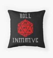 Dungeons & Dragons Roll Initiative gift idea Throw Pillow