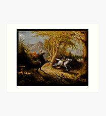 Headless Horseman Chasing Ichabod Crane Art Print