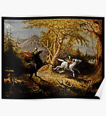 Headless Horseman Chasing Ichabod Crane Poster