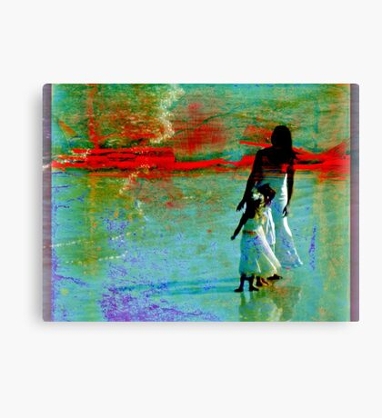 Afternoon at the beach Canvas Print