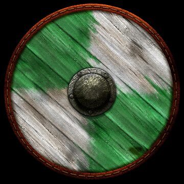 Viking Shield - White / Green quarters by kayakcapers