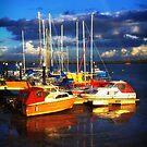 Heybridge Boats and Rainbow by newbeltane