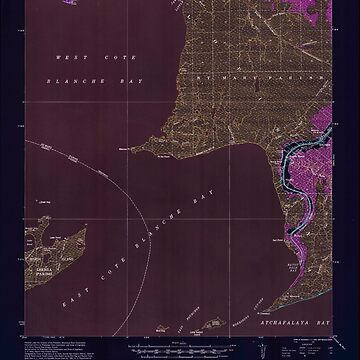 USGS TOPO Map Louisiana LA Bayou Sale 334269 1937 62500 Inverted by wetdryvac